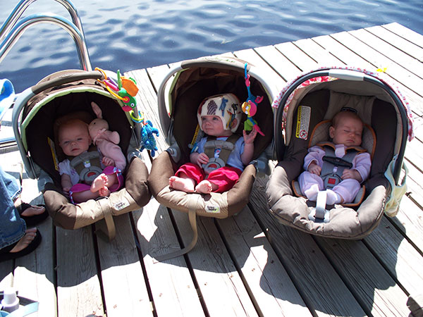 Even babies like hanging out on the dock