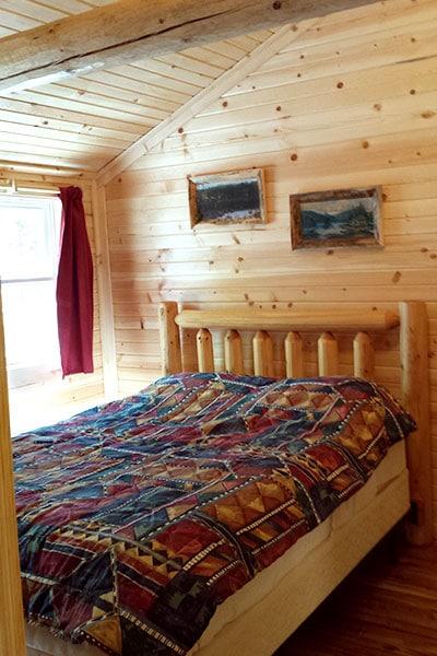 Cabin 1 (Cedar) bedroom.