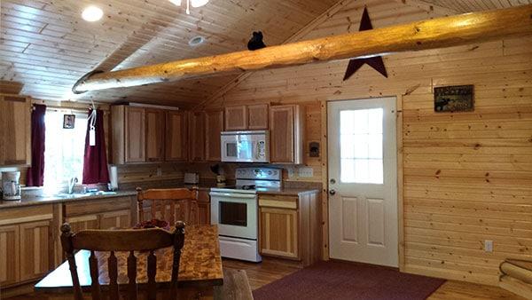 Cabin 1 (Cedar) kitchen entry.