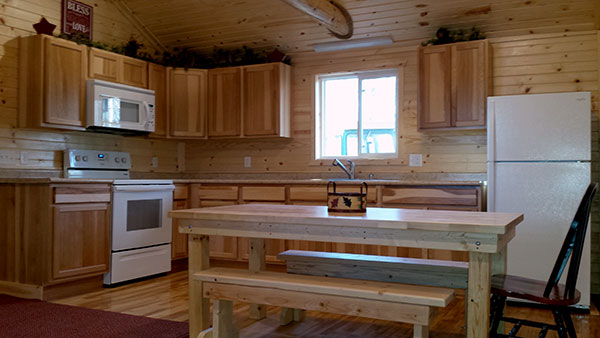 Cabin 2 (Pine) kitchen.