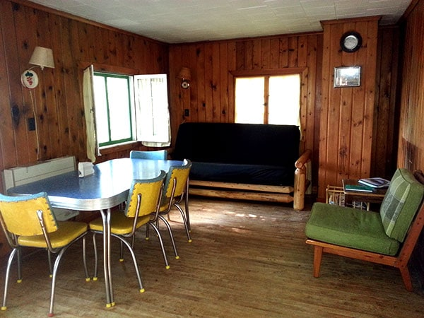 Cabin 3 Living and Dining Area.