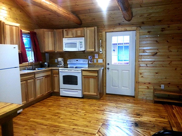 Cabin 6 (Birch) Kitchen.