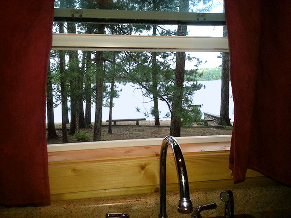 Cabin 6 (Birch) Kitchen View.