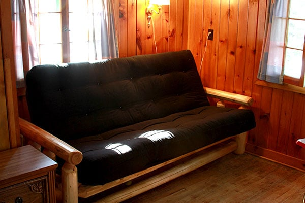 Cedar and Pine log futon