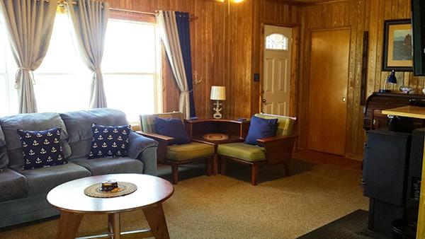 Peninsula Pines Resort Main House Living Room.