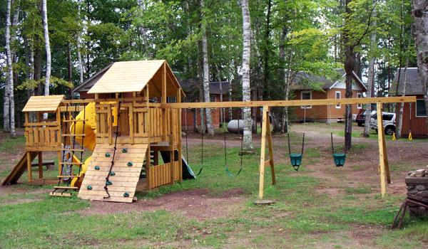 Peninsula Pines Resort & Campground jungle gym.